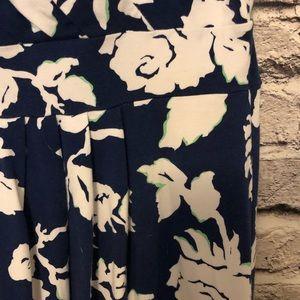 Lands' End Dresses - Lands End Fit and Flare Navy & Mint Floral Dress